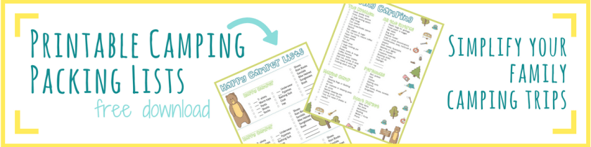 Make camping easier with these free printable camping lists. They're useful and cute!