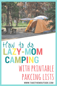 Easy Family Camping packing lists | #packinglists #printable #camping