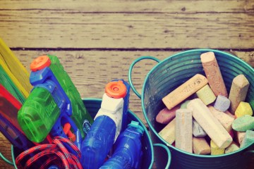 How to conquer backyard toy mess and kids' boredom with this outdoor toy rotation system.