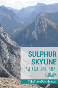Amazing mountain valley views from the top of Sulphur Skyline Trail in Jasper National Park