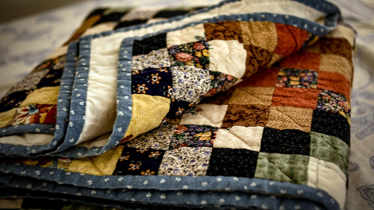 Photo of a folded quilt