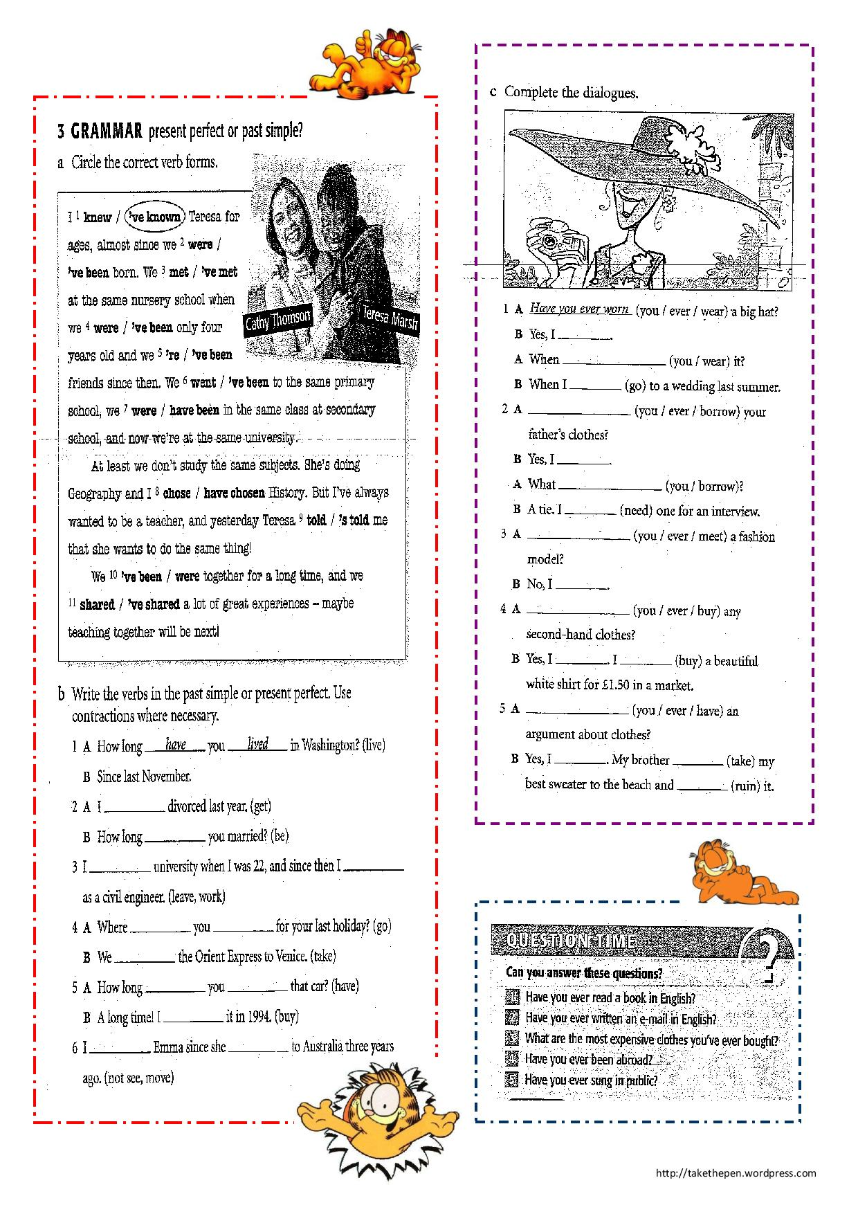 28 Esl Present Perfect Worksheet