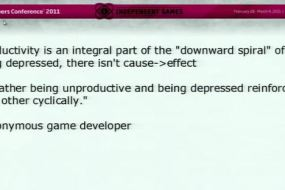 Don't Miss This Talk About Developing Games While Depressed