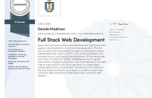 Full Stack Web and Multi-platform Mobile App Development Specialization