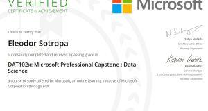Microsoft Professional Capstone Data Science