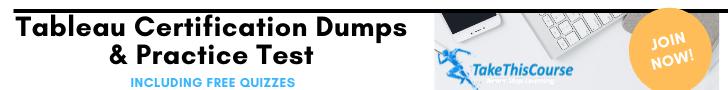 Tableau Certification Dumps