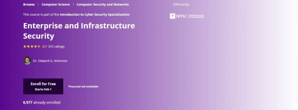 Nyu Enterprise and Infrastructure Security Classes