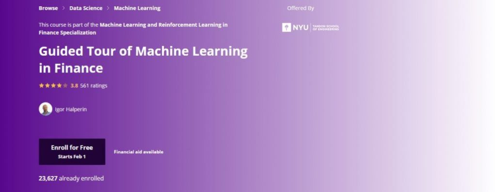 Nyu Guided Tour of Machine Learning Course
