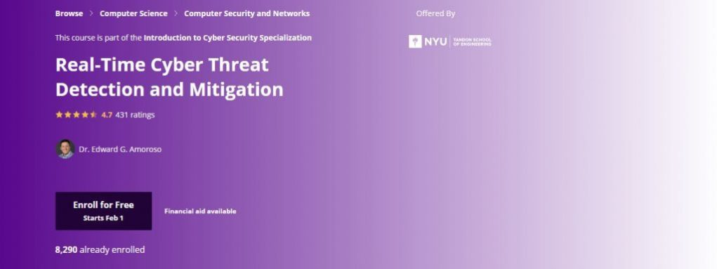 Nyu Real-Time Cyber Threat Detection and Mitigation Course