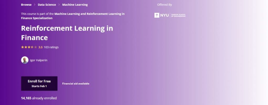 Nyu Reinforcement Learning in Finance Course