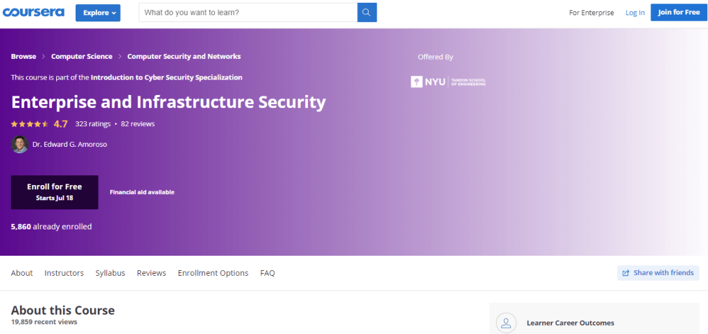 Enterprise and Infrastructure Security