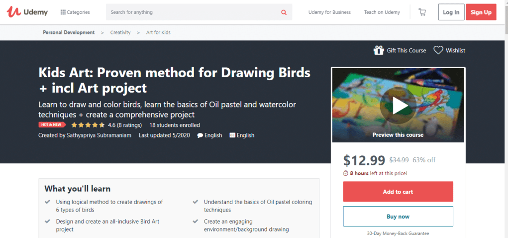 Kids Art: Proven method for Drawing Birds + incl Art project