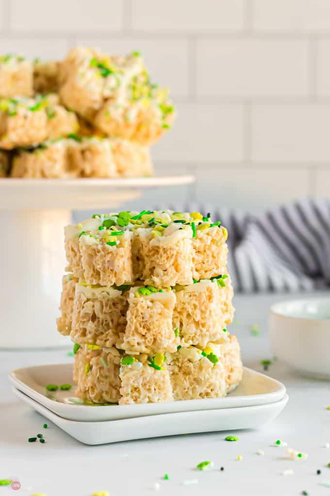 shamrock rice krispie treats