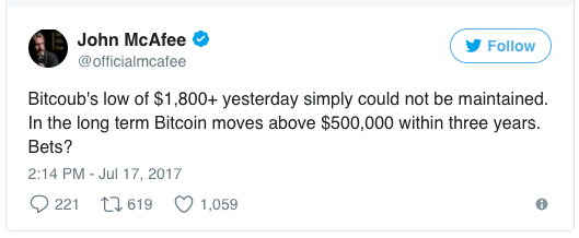 mcafee-predicts-bitcoin-$500k