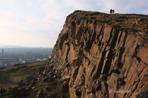 weekend in edinburgh salisbury crag takingtotheopenroad peggytee geograph