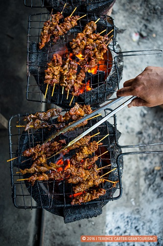 Cambodia food tour beef skewers taking to the open road copyright Terence Carter