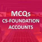 MCQs CS FOUNDATION fundamental of accounting online classes