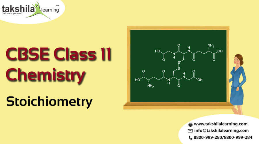 NCERT Solutions for Class 11 Chemistry - Online Notes Stoichiometry,Chemistry notes for class 11
