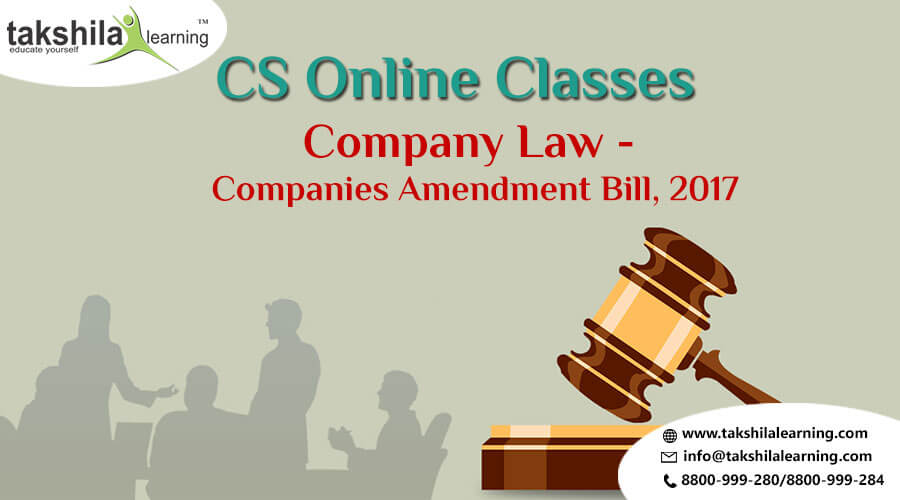 Company Law Companies Amendment Bill 2017