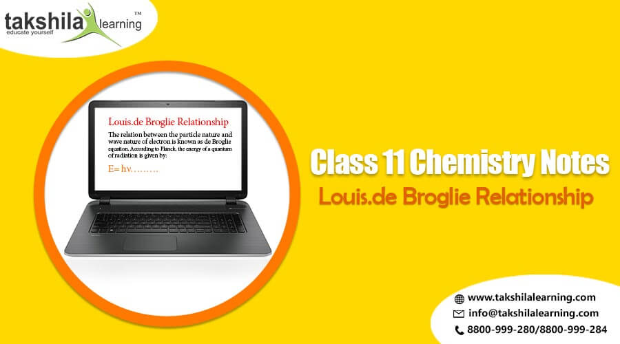 NCERT Chemistry Class 11 - Unit 2 - Louis.de Broglie Relationship, Chemistry notes for class 11,