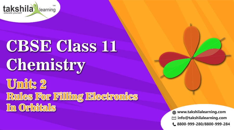 CBSE class 11Chemistry RULES FOR FILLING ELECTRONS IN ORBITALS : Unit 2