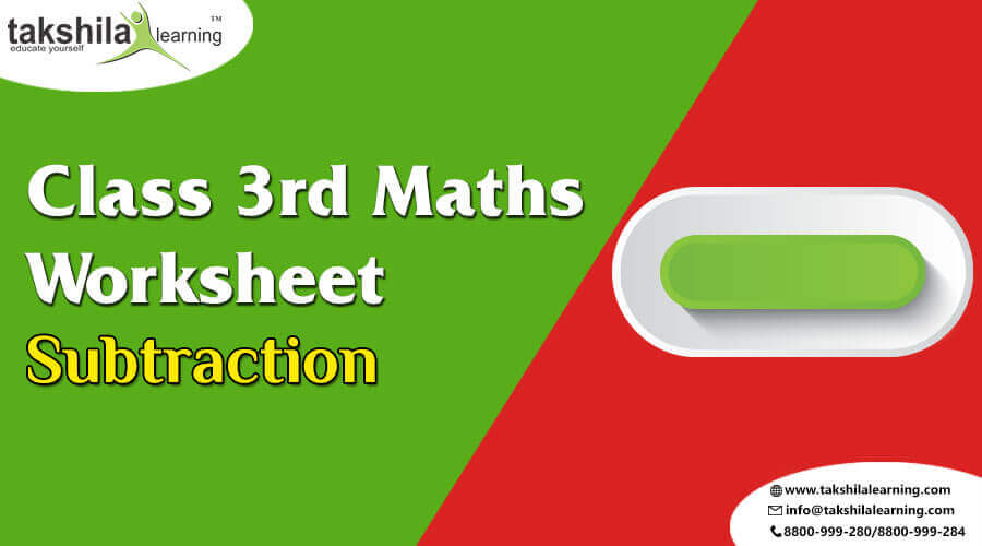CBSE Class 3 Maths Worksheet for Practice- Subtraction