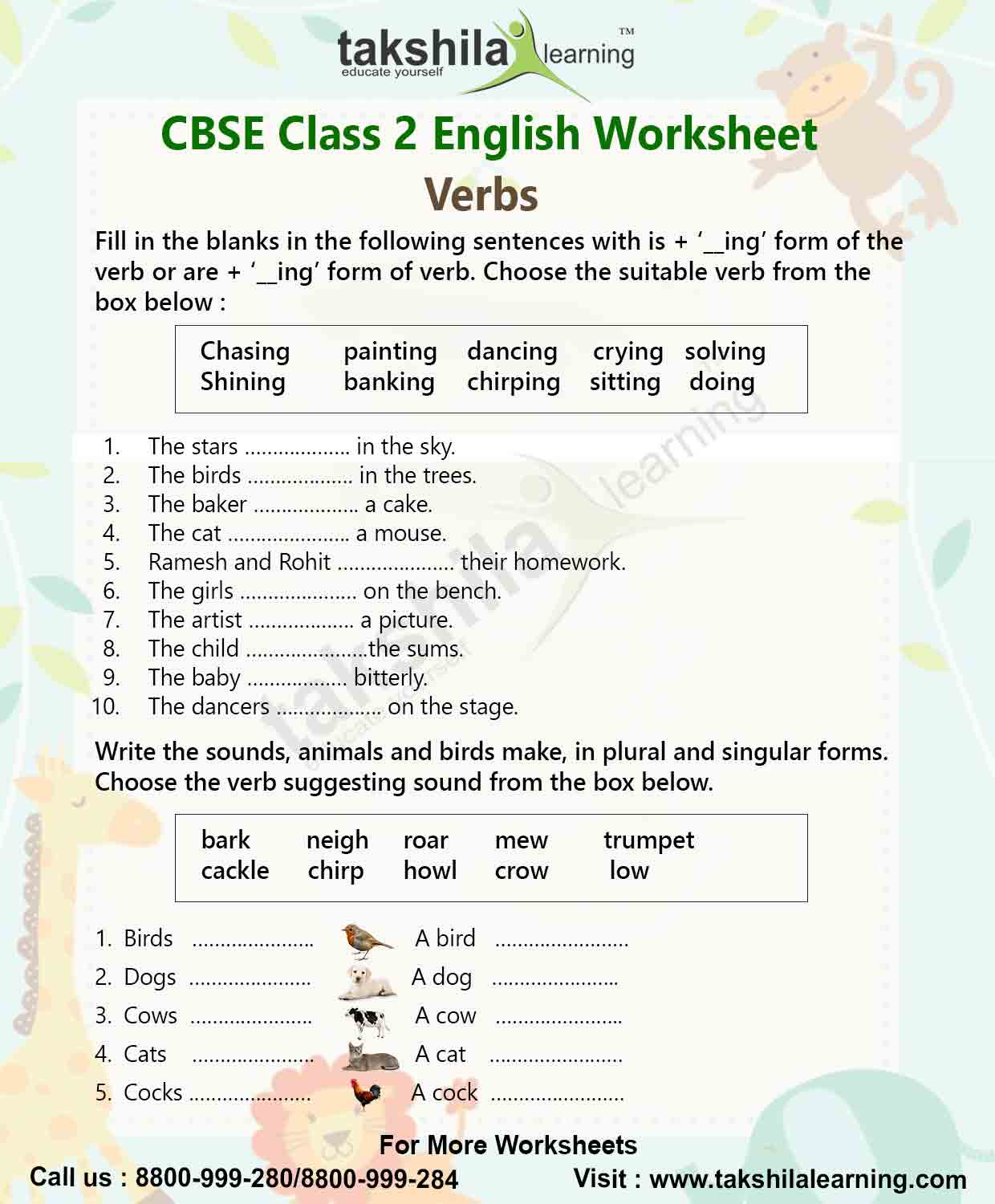 Worksheet For Class 2