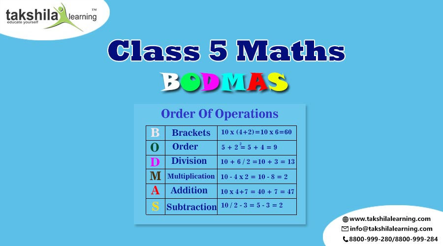 BODMAS Rules, CBSE Class 5 Maths