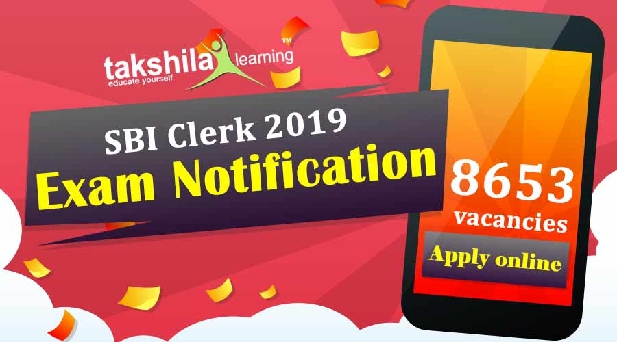 SBI Clerk 2019 Notification Out with 8653 vacancies : Apply online!!