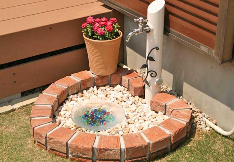 立水栓・水受け 施工例