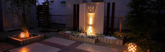 照明・ライトでお庭を幻想的にライトアップ