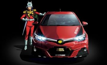 Toyota dévoile un nouveau modèle de l'Auris II version Gundam