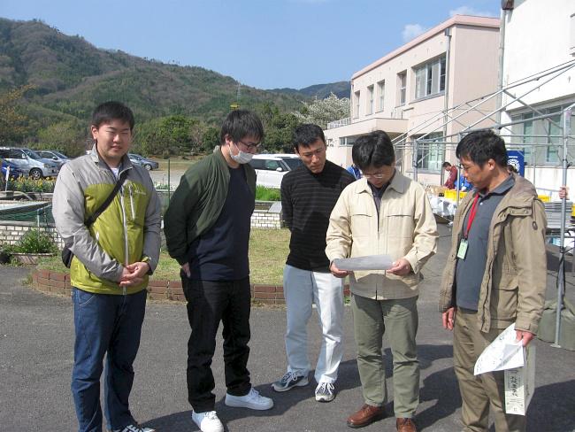 【画像】足立先生、氏家先生、門脇線と松岡君、荒木君
