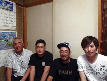 富良野市 岩渕さんと松永君、OB加茂さん