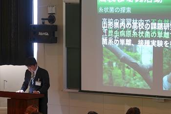 田中ゼミ櫻井君の昆虫病原市枝常勤の発表です