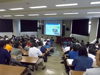 本学学生150名以上が出席しました