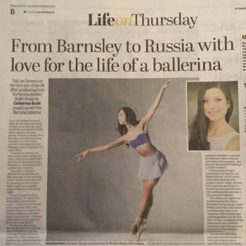 Tala Lee-Turton - news article - professional ballerina