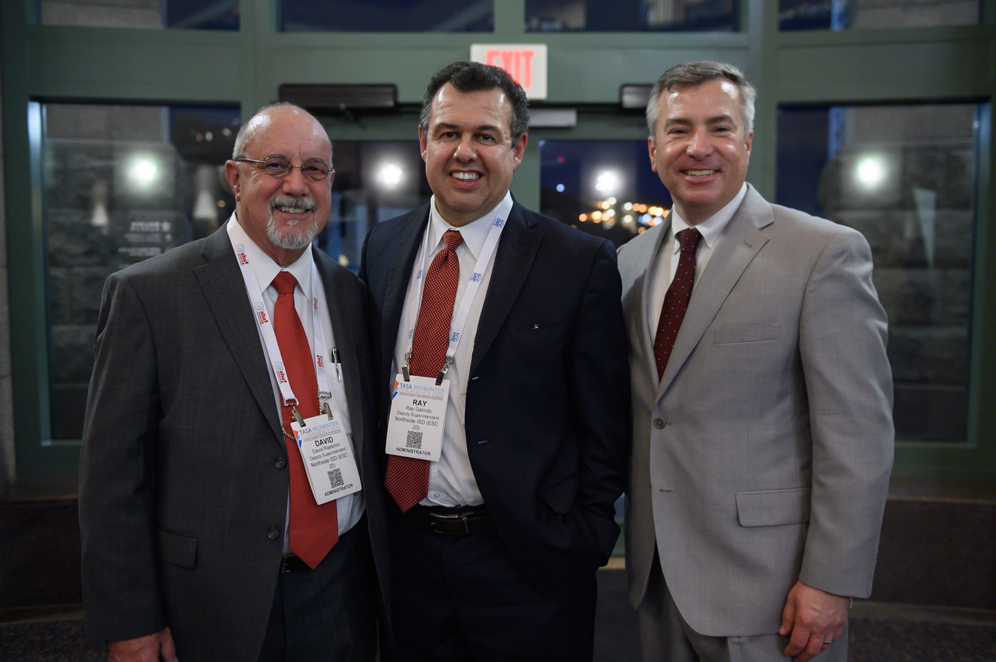Three men at the 2020 TASA Midwinter Conference