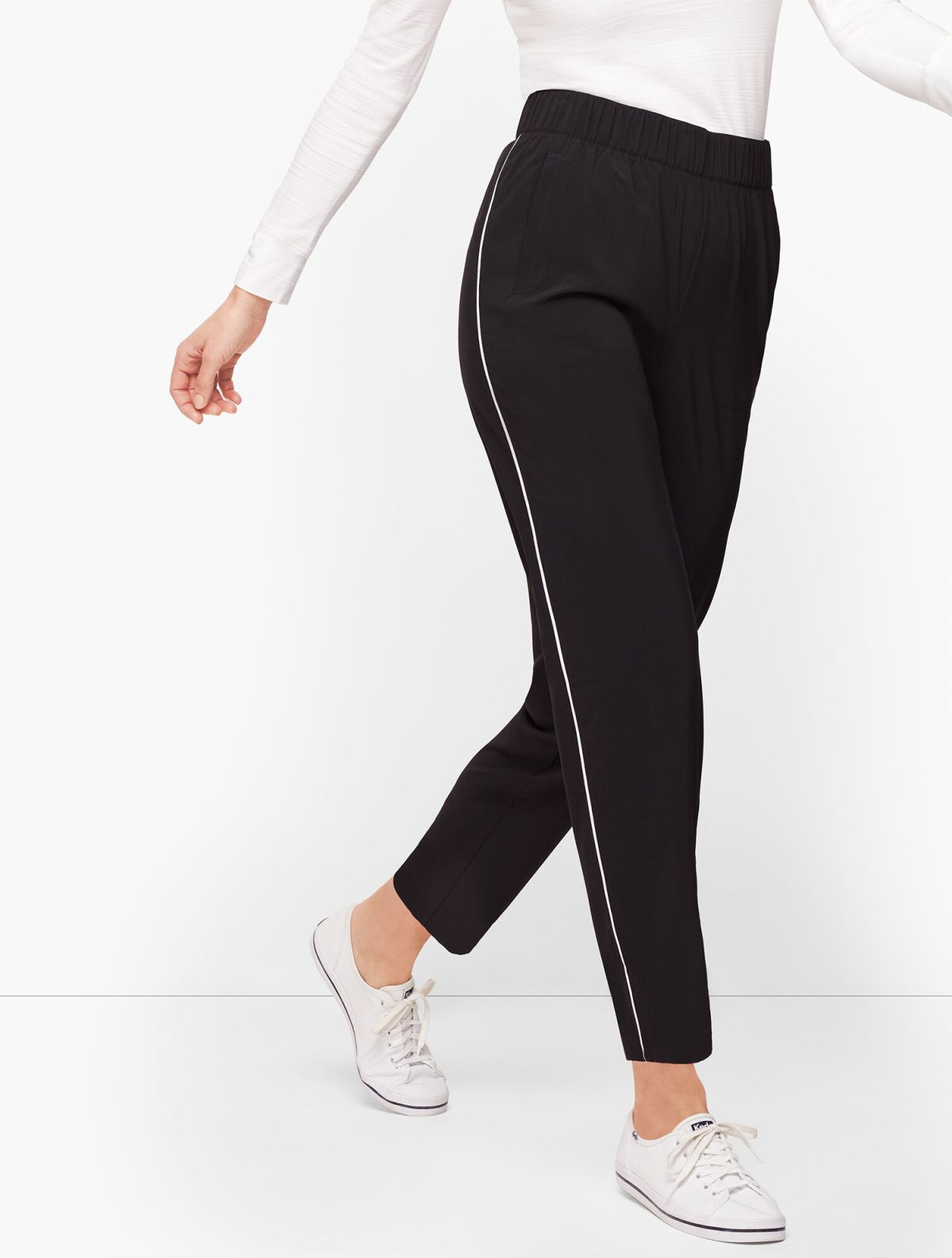 Lightweight Stretch Side Piping Pants