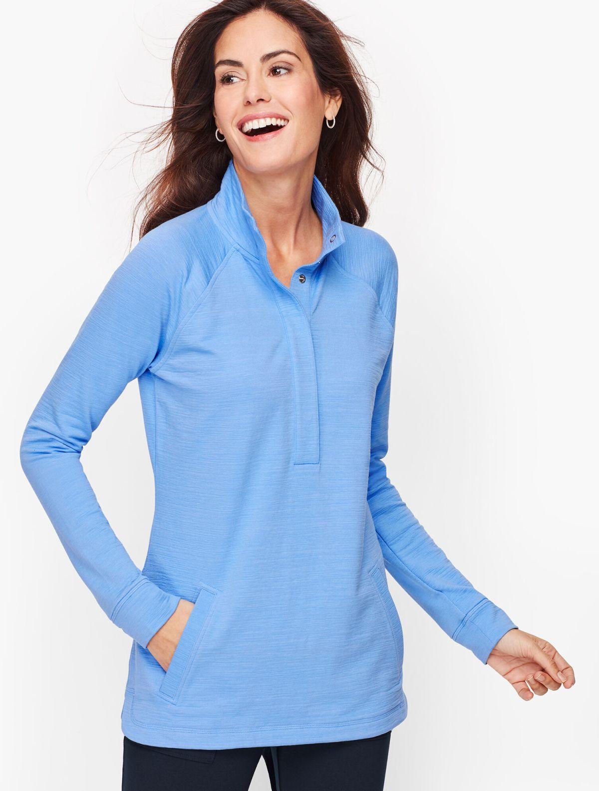Slub Terry Long Sleeve Pullover