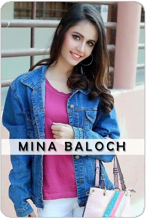 Pakistani Female Actress Mina Baloch