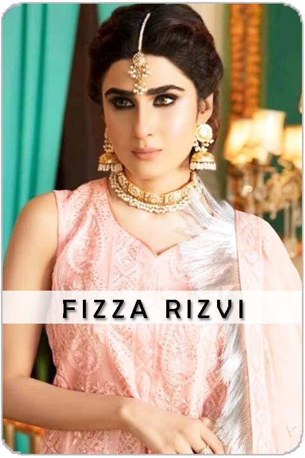 Pakistani Female Model Fizza Rizvi