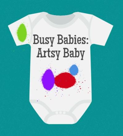 Busy Babies at the Library - Busy Babies: Artsy Baby - talesforthetiny.com