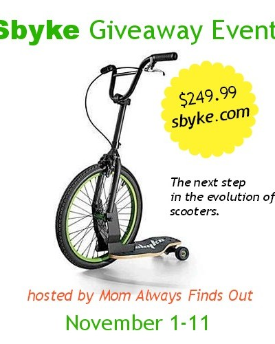 Sbyke Giveaway! Ends 11/11