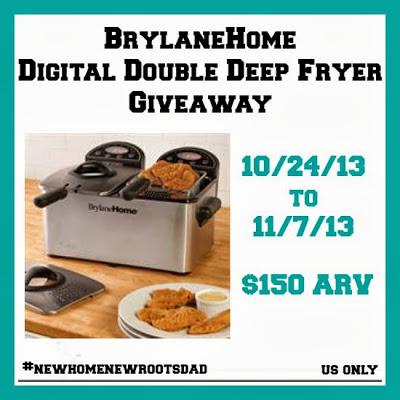 BrylaneHome Digital Double Deep Fryer Giveaway! Ends 11/7