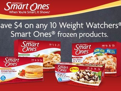 *Hot Coupon* Save $4 on any 10 Weight Watchers Smart Ones frozen products!