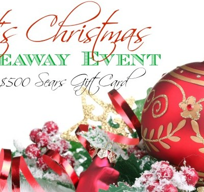 It's Christmas $500 Sears Gift Card Giveaway! Ends 12/2
