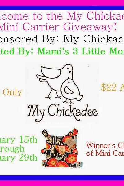 My Little Chickadee Mini Carrier Giveaway