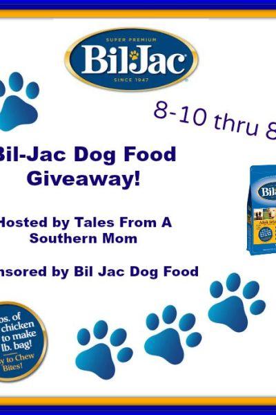 Bil Jac Dog Food Giveaway 8/24