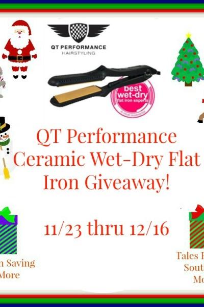 Flat Iron Experts QT Ceramic Wet-Dry Flat Iron Giveaway! 12/16